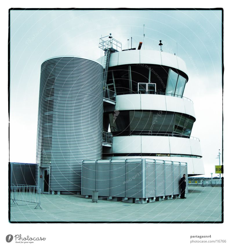 Building Concrete Safety Modern Aviation Tower Airport Radar station