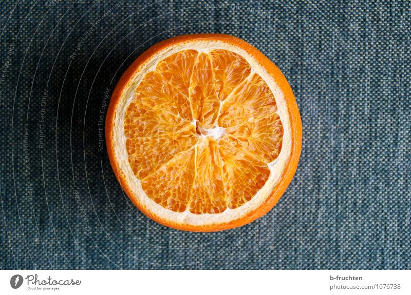 of yesterday Fruit Orange Healthy Healthy Eating Diet Simple Natural Blue Cloth Sliced Colour photo Interior shot Close-up Deserted