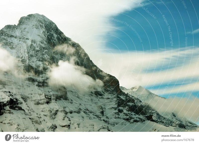 Sky Mountain Switzerland Mountaineering Steep Skier Alpine Eiger Grindelwald Change in the weather Bernese Oberland