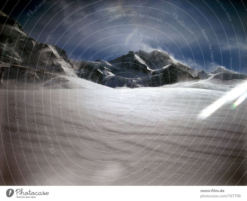 virgin Ice Snow Mountain Jungfrau Snowstorm Snow track Icefield Cold freezing cold Freeze Snowdrift Depth of snow wenge sb./sth. Grindelwald Glacier