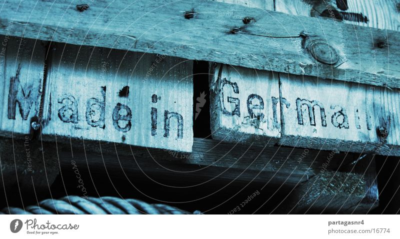 Made in Germany Crate Typography Stencil Wood Industry
