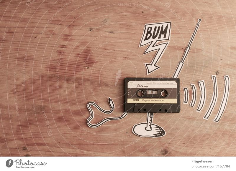 Art Music Cable Physics Listening Radio (device) Antenna Tape cassette Culture Speech bubble Technology Wave length Listen to music