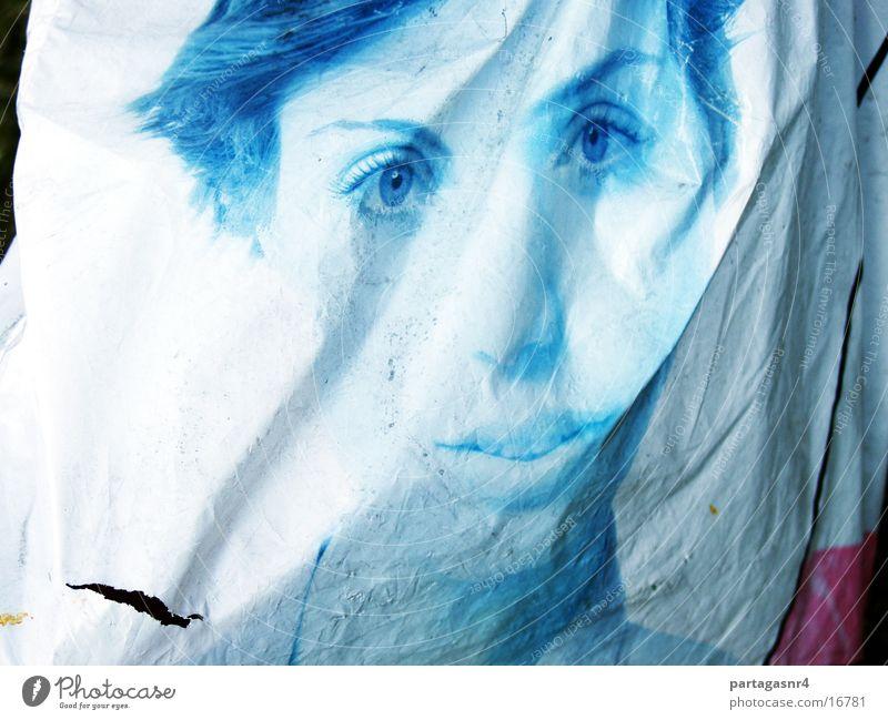 transient beauty Plastic bag Portrait photograph Woman Obscure Advertising