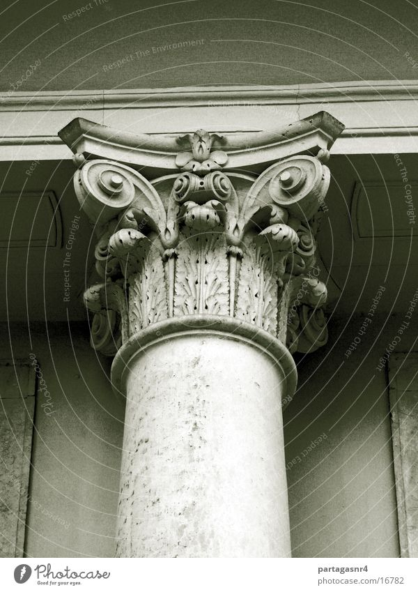Column with capital Sandstone Architecture Japanese Palais DD
