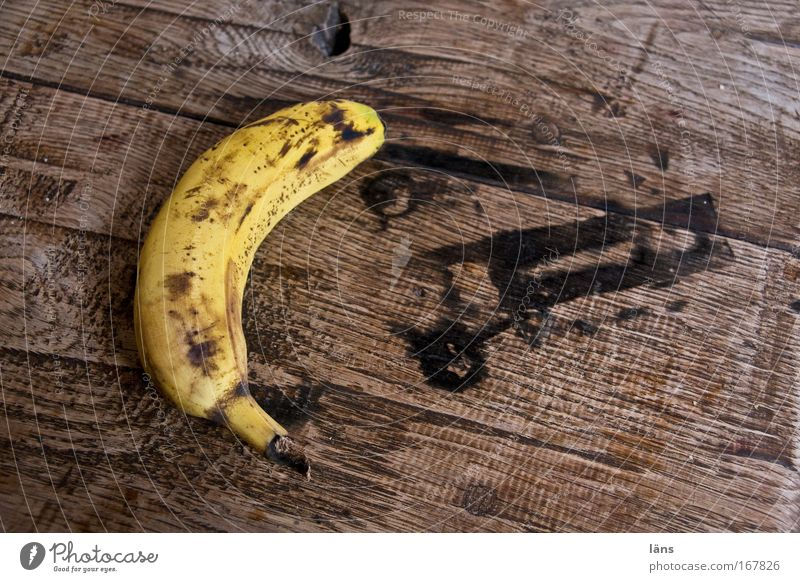 Old Yellow Wood Fruit Food Nutrition Sweet Delicious Mature Banana Vegetarian diet Second-hand Tabletop Finger food