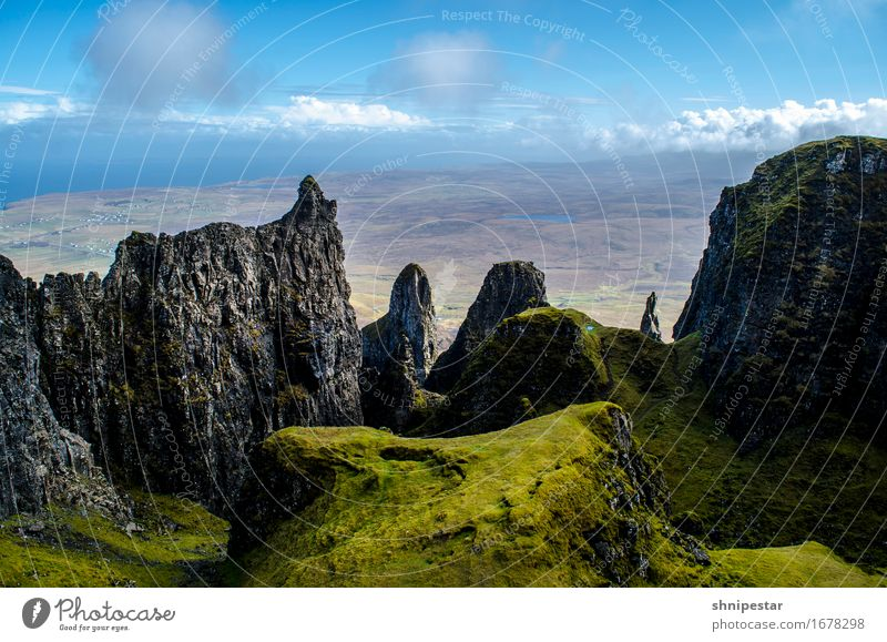 The Quiraing, Isle of Skye, Scotland Athletic Relaxation Vacation & Travel Tourism Adventure Expedition Mountain Hiking Nature Landscape Elements Earth Climate