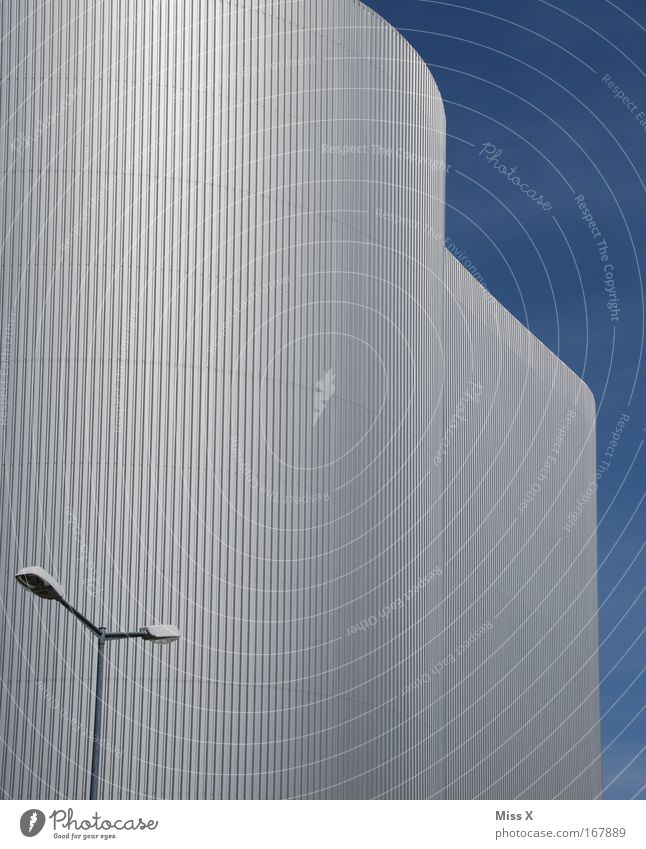 Cold Wall (building) Architecture Building Wall (barrier) Facade Modern Energy industry New Industry Manmade structures Factory Skyline Street lighting Industrial plant Lamp post