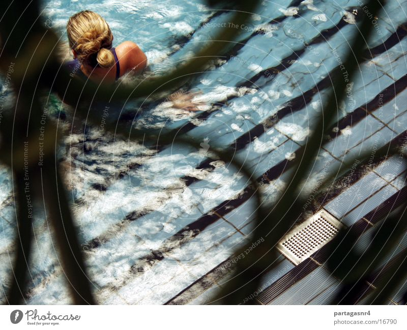 The Little Mermaid Bikini Blonde Woman Swimming & Bathing Water Blue Back