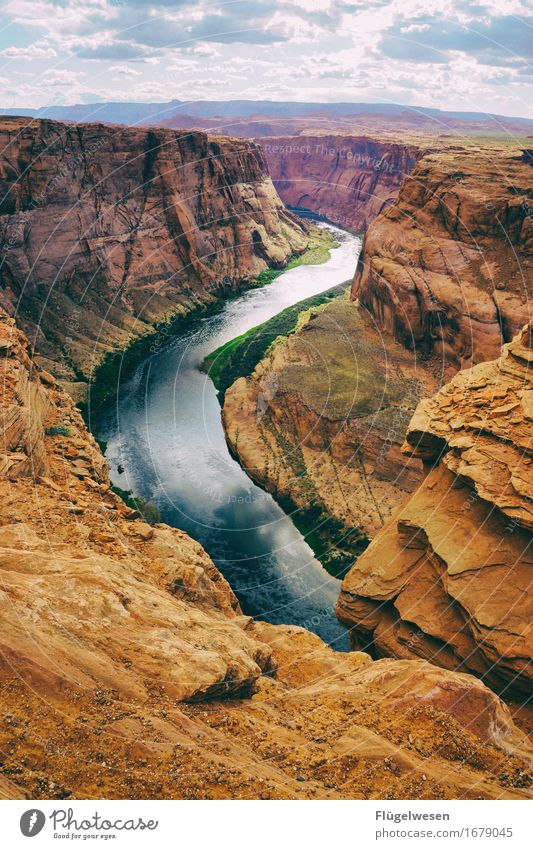 Horseshoe Bend (Arizona) [5] Beautiful Trip Mountain Landscape Water River Tourist Attraction To enjoy Vantage point USA National Park Americas Page