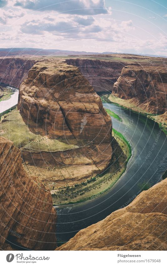 Horseshoe Bend (Arizona) [9] Beautiful Trip Mountain Landscape Water River Tourist Attraction To enjoy Vantage point USA National Park Americas Page