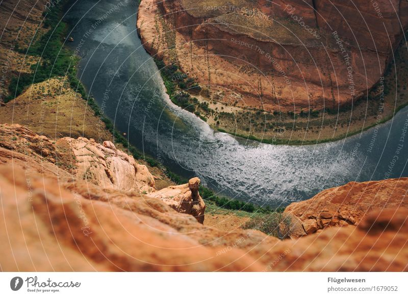 Horseshoe Bend (Arizona) [8] Beautiful Trip Mountain Landscape Water River Tourist Attraction To enjoy Vantage point USA National Park Americas Page