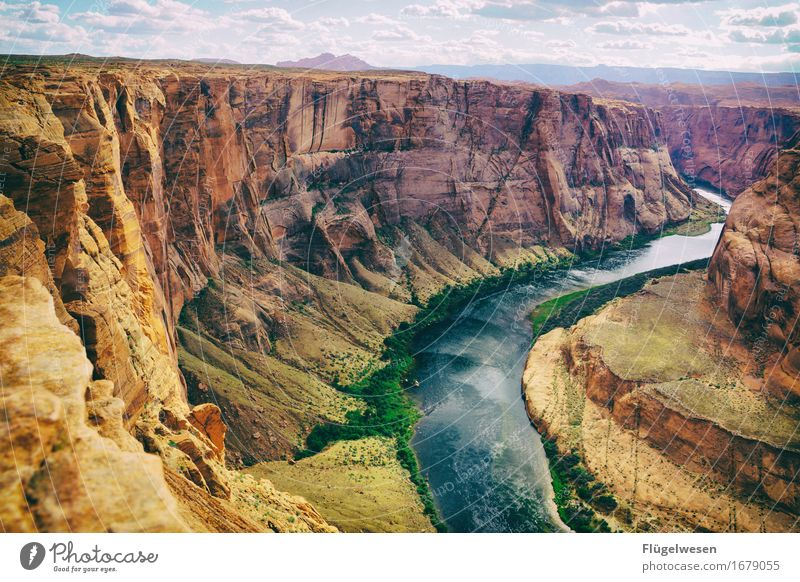 Horseshoe Bend (Arizona) [6] Beautiful Trip Mountain Landscape Water River Tourist Attraction To enjoy Vantage point USA National Park Americas Page