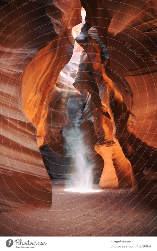 Upper Antelope Canyon [18] Tourism Trip Hill Rock Mountain Stone Sand Touch Sharp-edged USA Americas Wall of rock Ledge Cervice Play of colours Blaze of colour