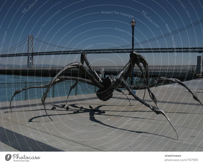 Dark Metal Art Bridge Threat Steel Night Sculpture Tourist Attraction Work of art Port City