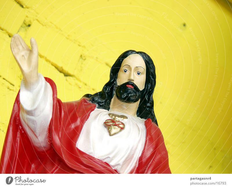 Religion and faith Heart Kitsch Prayer Sculpture Jesus Christ Christianity Exhibition Costume Idol