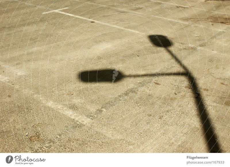 Street Style Bright Esthetic Stand Lie Illuminate Lantern Parking lot Parking garage Shadow play Agreed Search for a parking space