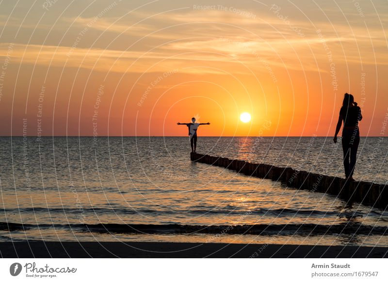 Sunset Lifestyle Style Design Beautiful Harmonious Well-being Contentment Senses Relaxation Calm Vacation & Travel Beach Human being Masculine Feminine