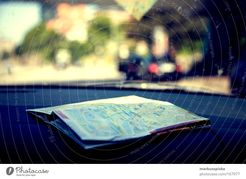 City Summer Vacation & Travel Street Car Trip Driving Communicate Longing Analog Discover Mobility Motoring Map Navigation Wanderlust