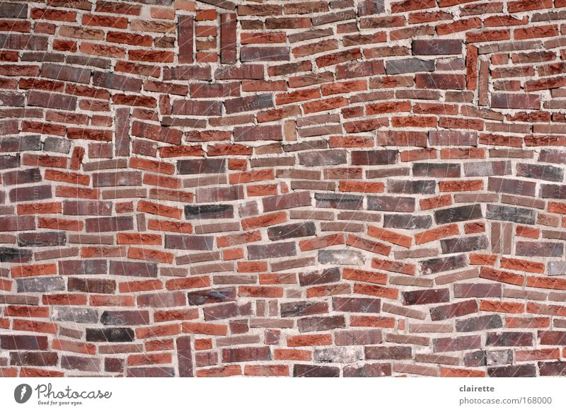 Red House (Residential Structure) Wall (building) Stone Wall (barrier) Brown Wild Exceptional Uniqueness Pattern Firm Brick Chaos Muddled Tilt Sharp-edged