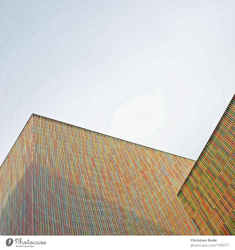 Colourful building Colour photo Exterior shot Pattern Structures and shapes Copy Space top Copy Space bottom Copy Space middle Day Light Shadow Contrast