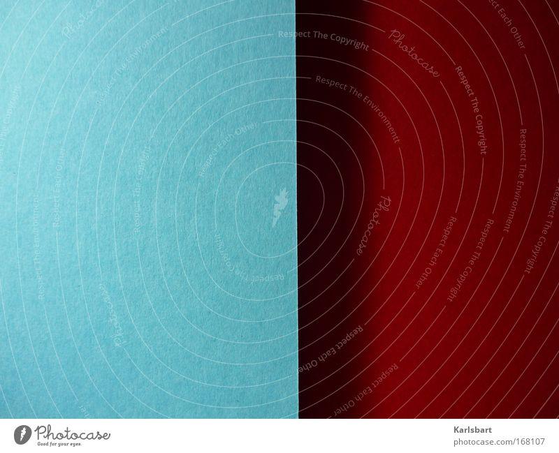 dualism. Handicraft Decoration Art Media Print media New Media Paper Blue Red Contentment Design Colour Equal Modern Symmetry Shadow Cardboard Photo paper