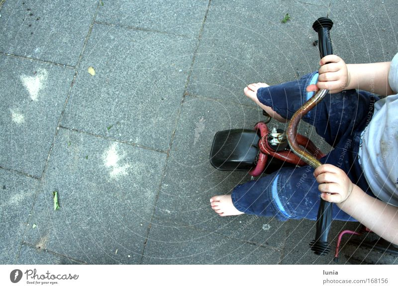 I'm gonna get going. Subdued colour Exterior shot Day Bird's-eye view Playing Human being Masculine Toddler Boy (child) Arm Hand Fingers Legs Feet 1 1 - 3 years