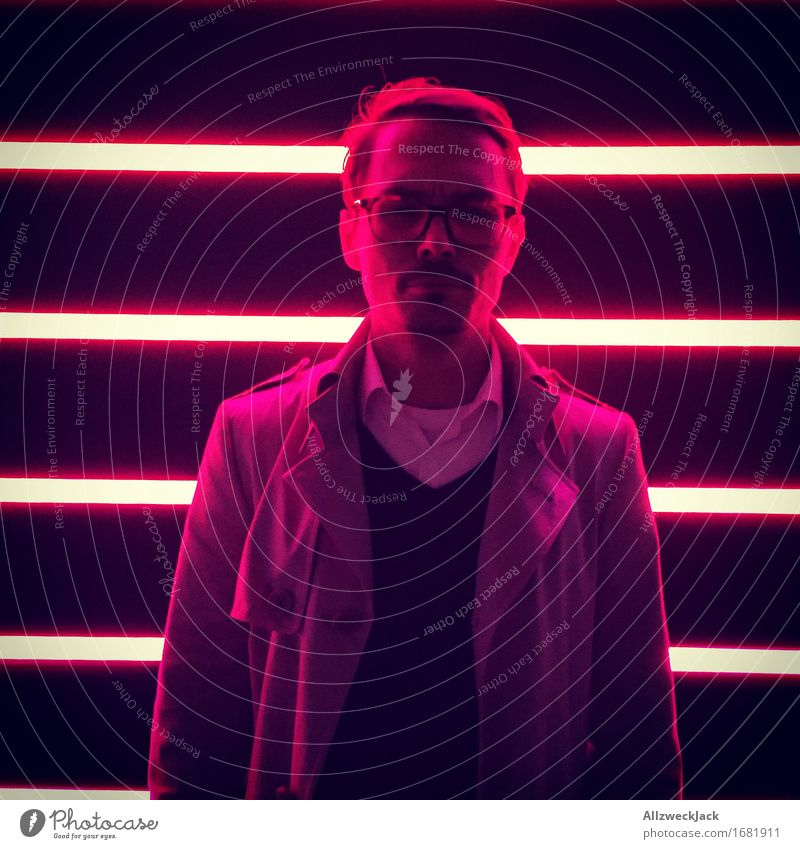 Lost in the red light district Masculine Young man Youth (Young adults) Man Adults 1 Human being 30 - 45 years Red Reluctance Loneliness Anger Aggravation