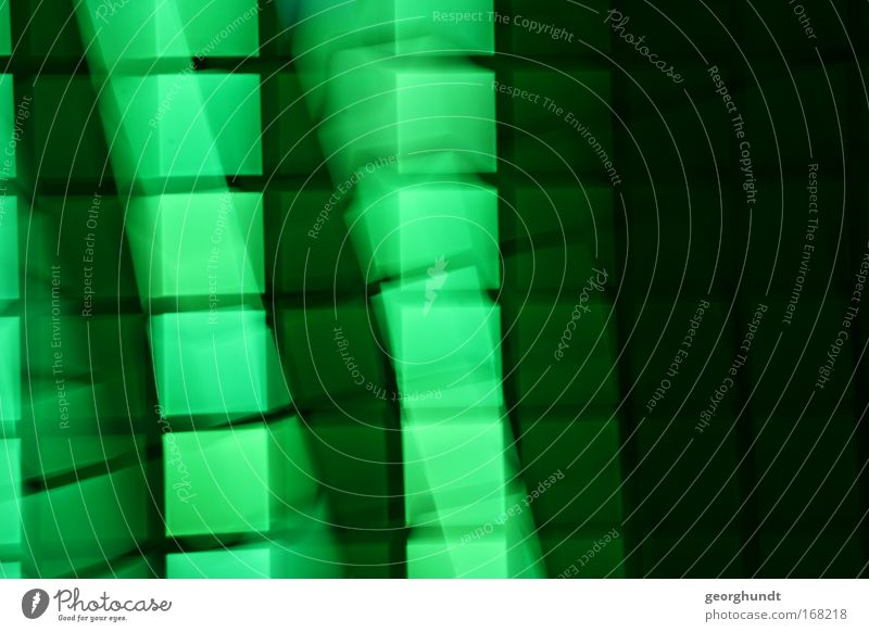 LightingDesign Green Colour photo Interior shot Experimental Structures and shapes Deserted Copy Space right Night Artificial light Lifestyle Industry Screen