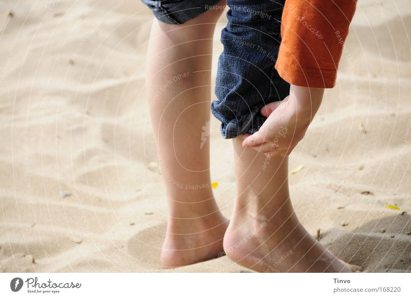 Human being Child Nature Hand Sun Beach Freedom Happy Sand Warmth Legs Feet Leisure and hobbies Trip Hiking Infancy