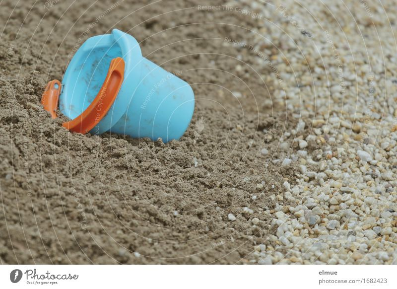 forgotten Playing Vacation & Travel North Sea Baltic Sea Lake Baggersee Toys Sandpit Muding Lie Small Blue Determination Relaxation Infancy Sandy beach Pebble