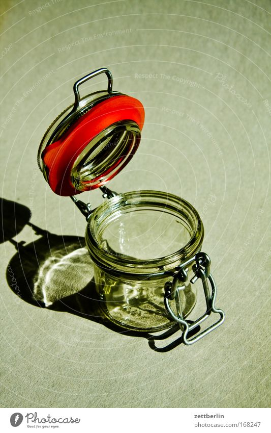 Nutrition Glass Glass Closed Open Empty Insulation Household Storage Cap Supply Alert Conserve Material Canned Stability