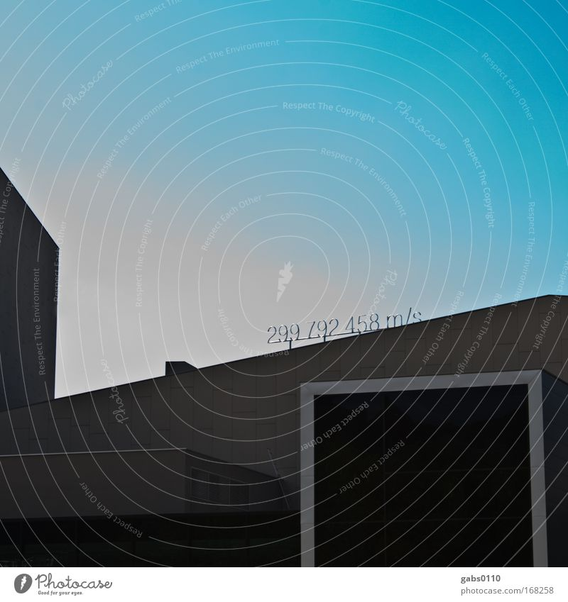 Sky Blue Black House (Residential Structure) Wall (building) Gray Wall (barrier) Art Architecture Design Speed Modern Digits and numbers Exceptional Skyline