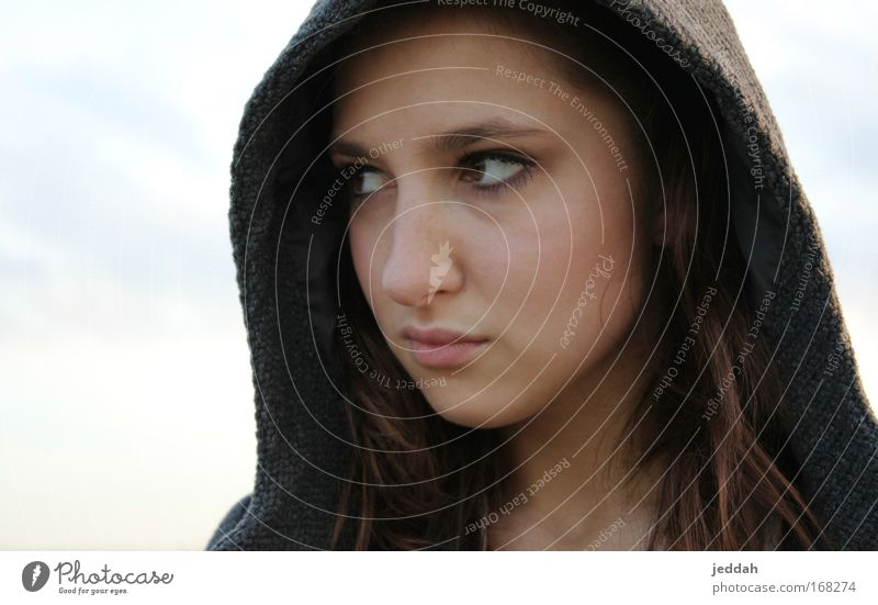 superwoman Colour photo Exterior shot Evening Portrait photograph Looking away Feminine Young woman Youth (Young adults) Life Skin Head Face Eyes Lips 1