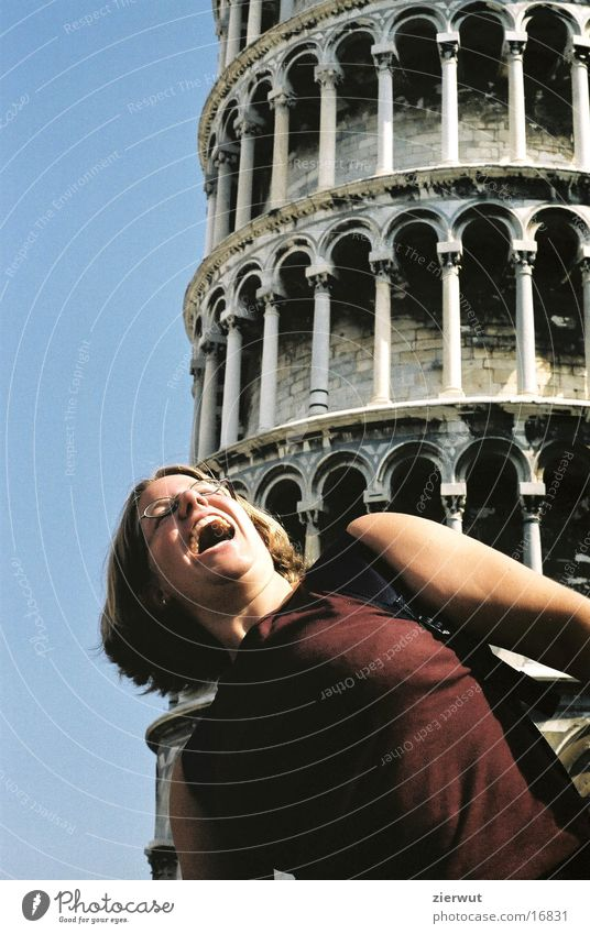 slate tower of pisa with heidi Italy Europe PISA study Tower Joy Tilt Architecture