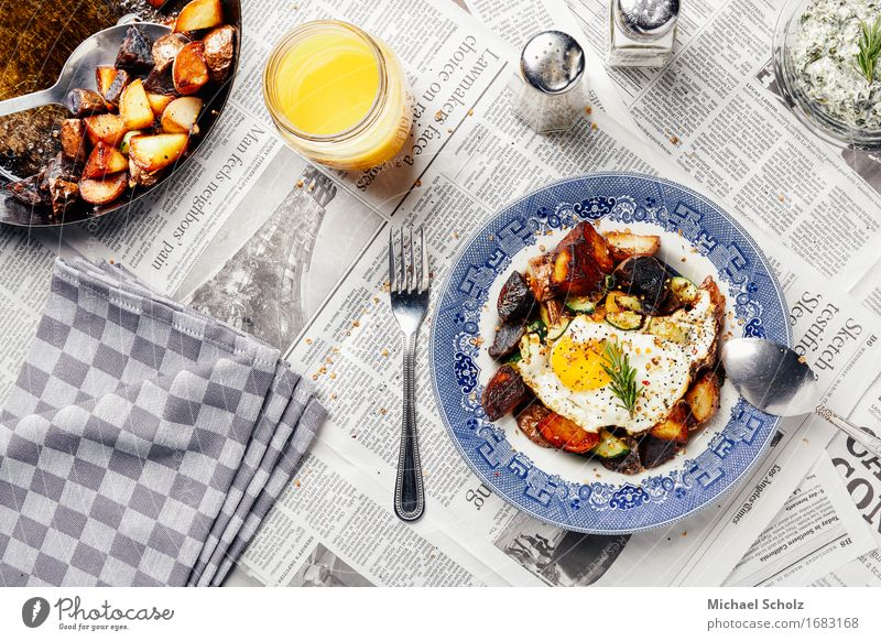 Lunchtime in Los Angeles Healthy Eating Yellow Dish Food Orange Glass Kitchen Vegetable Organic produce Crockery Egg Plate Vegetarian diet Dinner