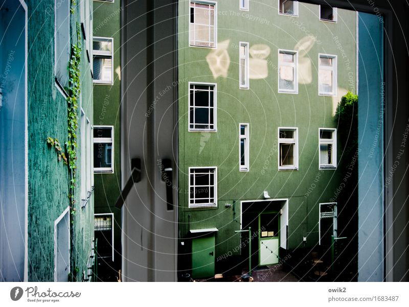 City Blue Green House (Residential Structure) Window Wall (building) Berlin Building Wall (barrier) Above Facade Contentment Glittering Illuminate Door Idyll