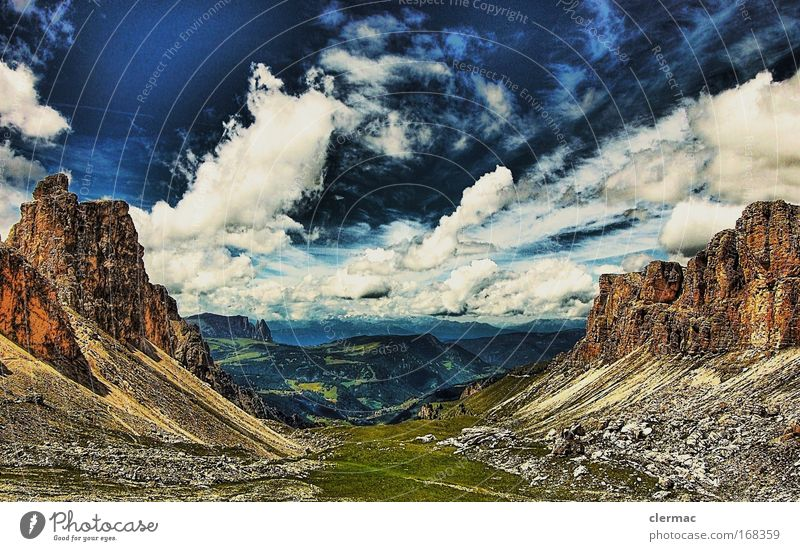 Nature Vacation & Travel Mountain Landscape Environment Earth Rock Large Alps Italy Peak Dolomites South Tyrol