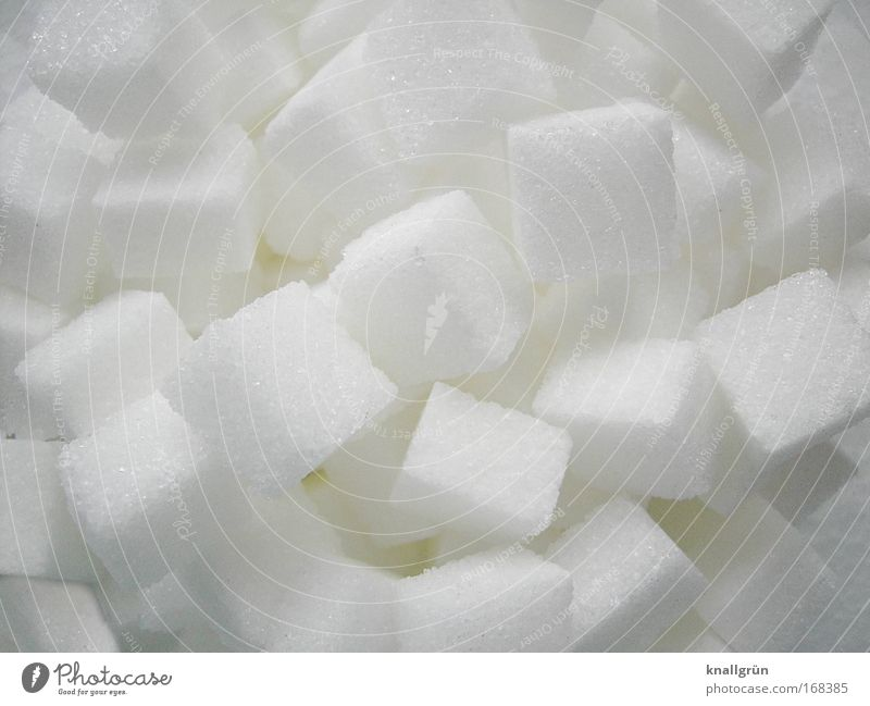 White Food Sweet Square To enjoy Crystal structure Sugar Sharp-edged Lump sugar