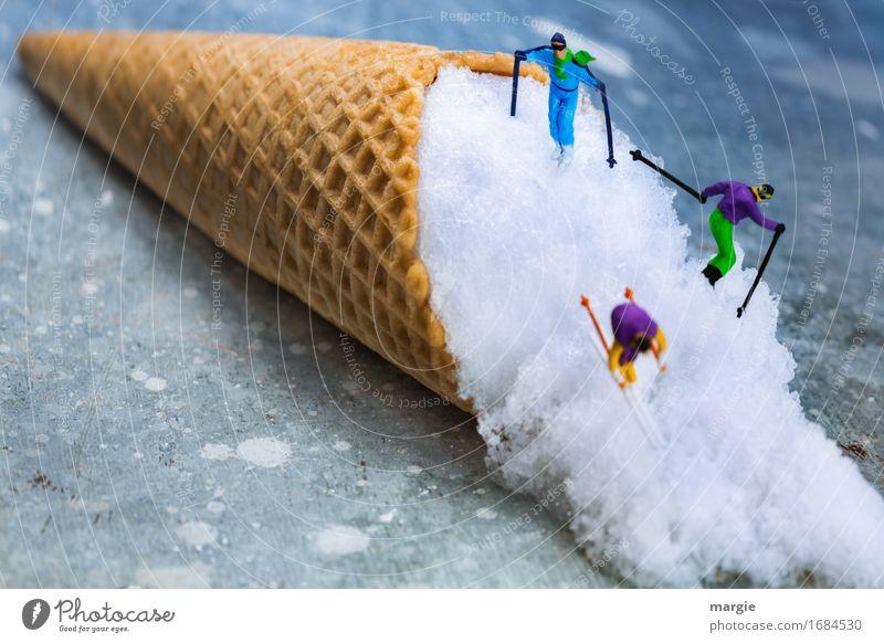 Miniwelten - Summer Ski Resort Food Dessert Ice cream Candy Nutrition Model-making Vacation & Travel Winter Snow Winter vacation Skiing Human being Masculine