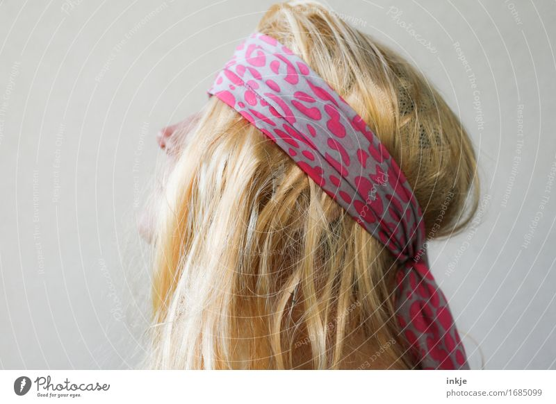 trashmetal Lifestyle Style Woman Adults Head Hair and hairstyles 1 Human being Headband Blonde Long-haired Trashy Crazy Hippie Metalcore Fan Bright background