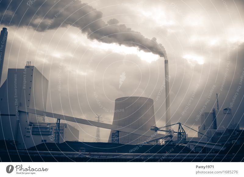 Dark Energy industry Gloomy Energy Smoking Environmental pollution Apocalyptic sentiment Coal power station