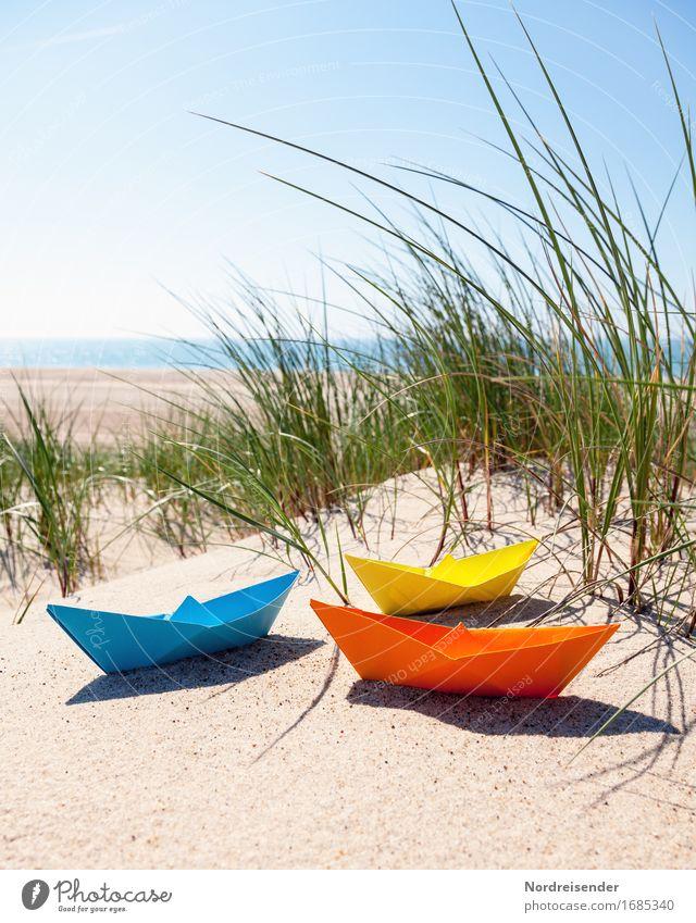 Vacation & Travel Summer Sun Ocean Joy Beach Grass Lifestyle Playing Sand Beautiful weather Paper Baltic Sea Symbols and metaphors Wanderlust Toys