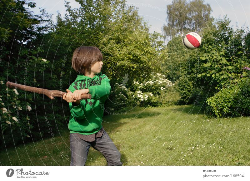 Human being Child Nature Youth (Young adults) Green Summer Life Sports Playing Boy (child) Movement Garden Spring Infancy Healthy Leisure and hobbies