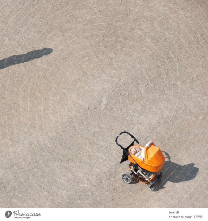 Human being Sand Orange Infancy Wait Beginning Stand Long Trust Aerial photograph Bird's-eye view Vehicle Relationship Responsibility Afternoon Low