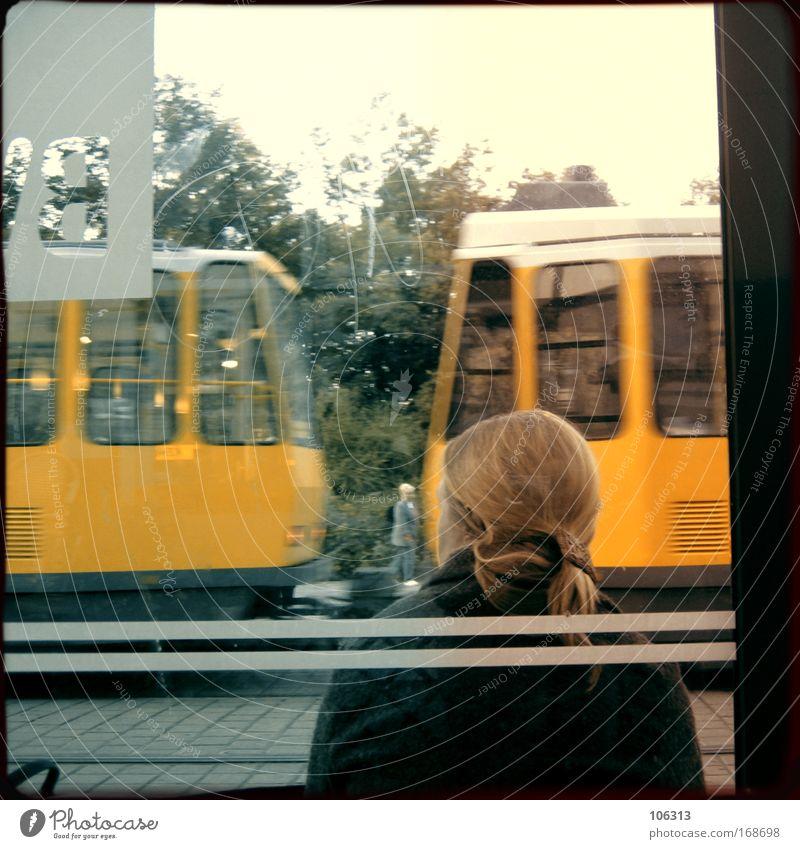 Woman City Wait Adults Village Dynamics Track Tram Public transit