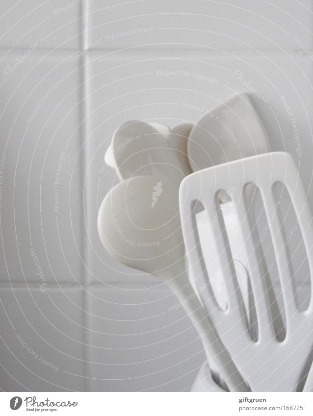 White Nutrition Flat (apartment) Arrangement Living or residing Kitchen Cooking & Baking Clean Plastic Cleaning Tile Crockery Dinner Lunch Cutlery Spoon