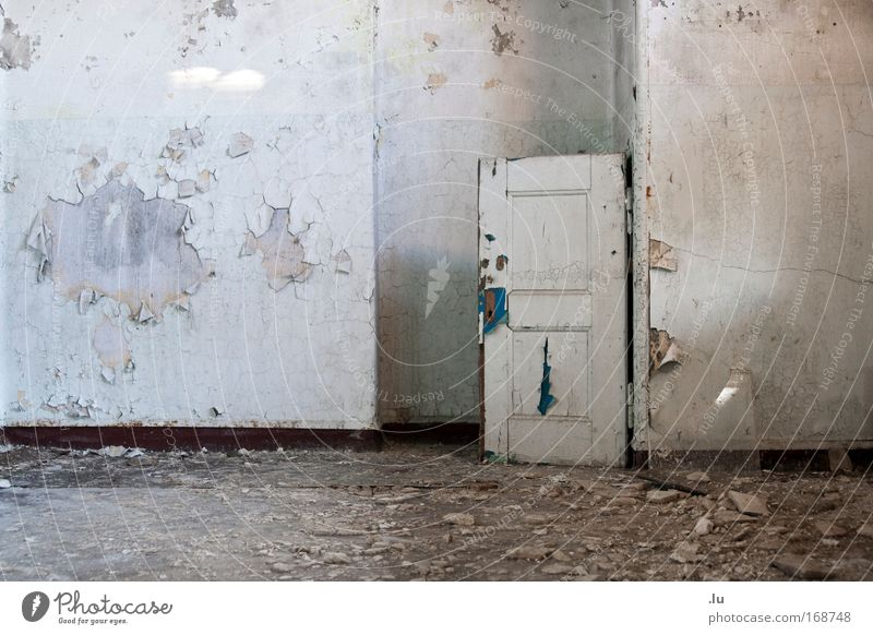 Old Loneliness Wall (building) Wall (barrier) Dirty Door Poverty Transience Decline Past Stress Ruin