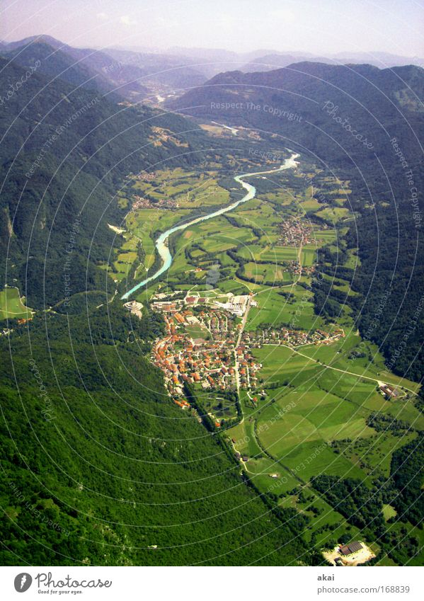Slovenia....for alpho Colour photo Exterior shot Aerial photograph Day Bird's-eye view Long shot Leisure and hobbies Vacation & Travel Tourism Summer Mountain