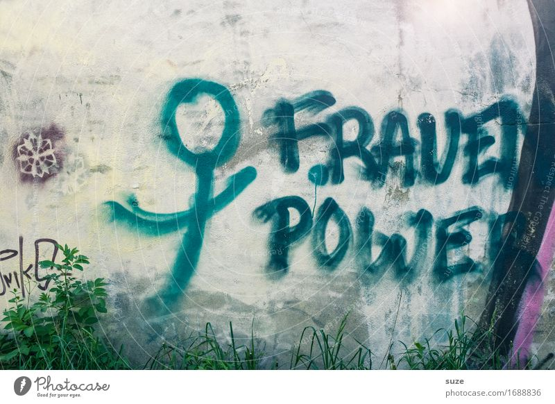 Female Fitness Feminine Woman Adults Characters Graffiti Authentic Cool (slang) Simple Hip & trendy Funny Original Blue Gray Self-confident Optimism Success