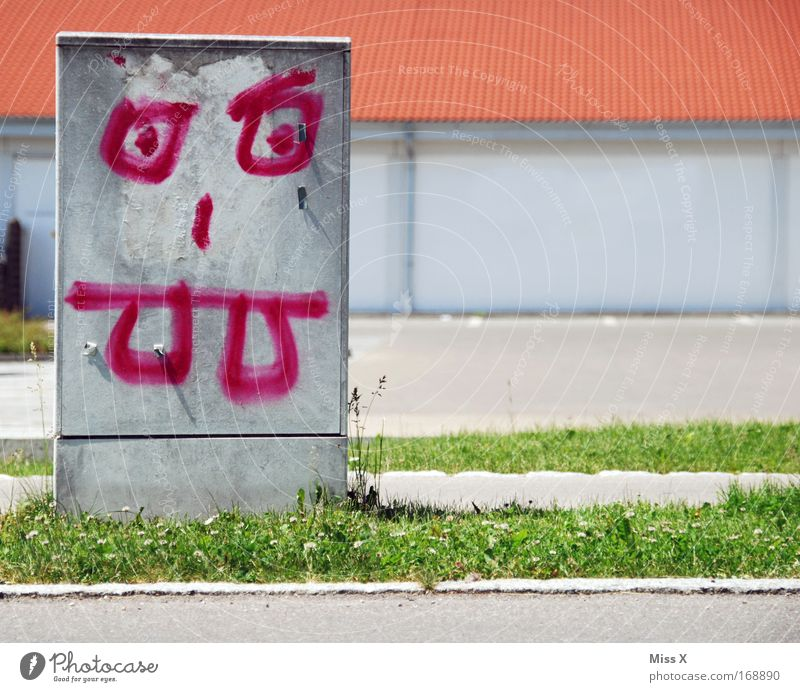 Street Dye Graffiti Funny Electricity Threat Painting (action, work) Bizarre To feed Comic Power consumption Electrical circuit Comic strip character Deface